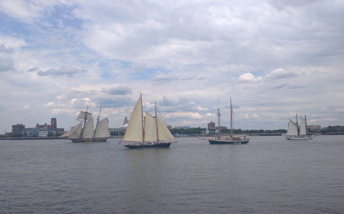 Tall ships on the Delaware