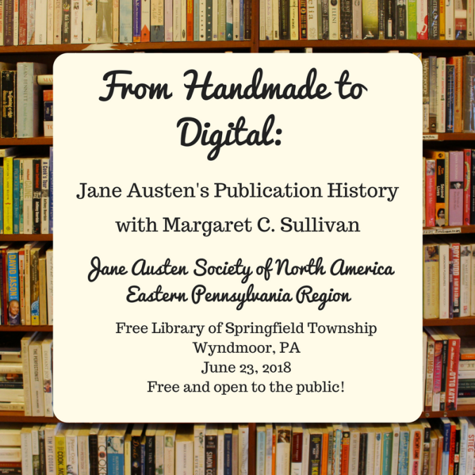 Jane Austen Program at Free Library of Springfield Township